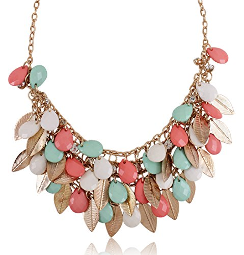 Shining Diva Fashion Multicolor Metal Choker Stylish Necklace for Women & Girls