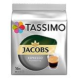 Tassimo Espresso Ristretto, Capsule Caffè, Caffè, Tostato Macinato Pacco da 5, 5 x 16 T-Discs
