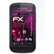 Alcatel One Touch 918D Glasfolie - atFoliX FX-Hybrid-Glass hartbeschichtete elastische 9H Kunststoffglas Folie - besser als Echtglas Panzerglas
