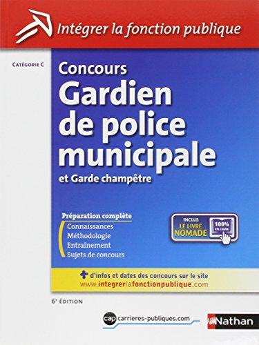 Concours Gardien de police municipale et Garde champtre