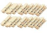 24 Stück natur Wäscheklammern Dekoklammern Klammern Holzklammern Holz 4,5 x 0,7 cm - nicht nur als Deko Mini-Klammer für Geschenktüten oder Adventskalender-Tüten zum selber Basteln