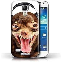 Gedruckt Schutzkoffer Schutzhüllen / Hülle für Samsung Galaxy S4 Mini / Lächerlicher Hund Muster / Lustige Tiere Kollektion