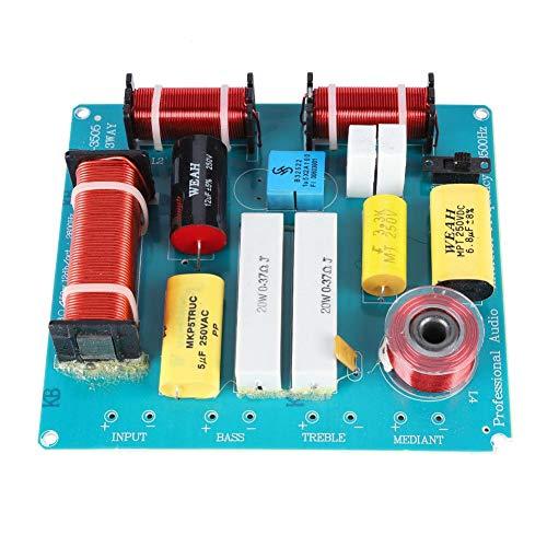 Lazmin Lautsprecher Frequenzteiler Board, 3-Wege-Audio Frequenzteiler Crossover-Filter für DIY KTV Bühnenlautsprecher -