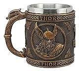 Ebros Cadeau Mythologie nordique Viking Dieux et Déesses Egyptiens Mug à café 368,5gram Résine God Thor