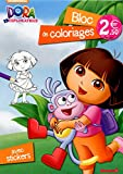 Dora l'Exploratrice - Bloc de coloriages avec stickers...
