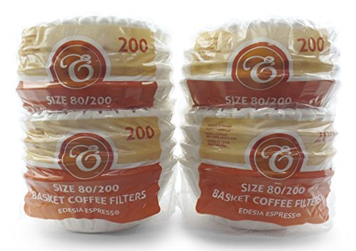 800 Stück 80/200mm Korbfilter Kaffeefilter - kompatibel mit Beem, Cuisinart, Phillips, Gastroback...