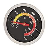 D DOLITY 400 °C Grillthermometer Backofen Holzbackofen mit großem Temperaturanzeige