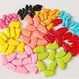 Creation® 100pcs- Caps Ongles mous pour Chats + 5x Adhesive Glue XS, S, M, L Rose / Rouge / Noir / Violet / Noir Pour Cat Paw Claw Couverture (couleur aléatoire) (M)