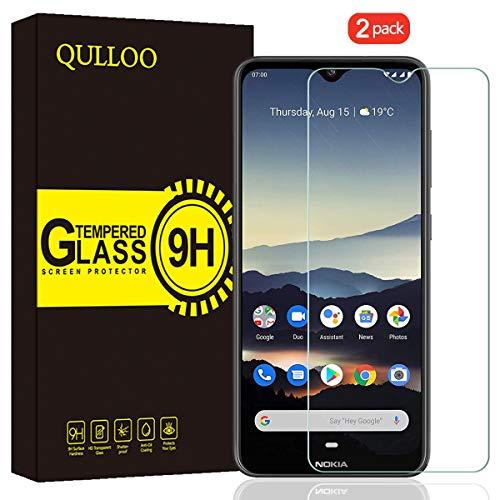 QULLOO Verre Trempé pour Nokia 7.2 / Nokia 6.2 Protection Écran Film Protection Anti Rayures Ultra Résistant Dureté 9H Protecteur D'écran pour Nokia 7.2 / Nokia 6.2-2 Pièces