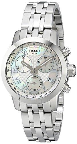 Tissot Damen-Uhren Analog Quarz One Size Edelstahl 86135736