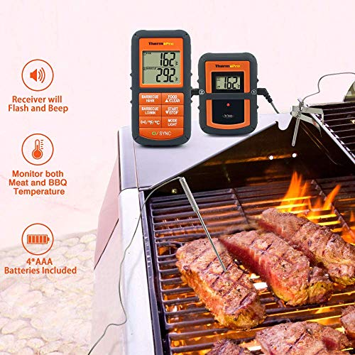 ThermoPro TP08 Funk-Grillthermometer Set - 4