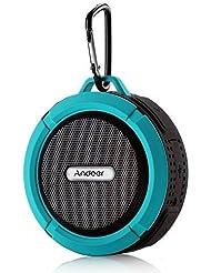 Andoer® Altavoz Estéreo Portátil al Aire Libre 5W Inalámbrico Bluetooth 3.0 con Micrófono Manos libres Resistente al Agua A prueba de Golpes y Polvos