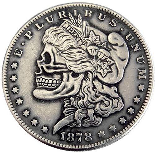 ARUNDEL SERVICES EU 1878 USA Replik Morgan-Dollar-Münze Schädel Zombie Skelett Vereinigte Staaten von Amerika Geld Dollar-Münze -