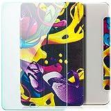Saxonia Samsung Galaxy Tab A 10.1 (2016) Hülle + Panzerglas Slim Case Tablet Tasche Schutzhülle Cover Motiv Flipflops