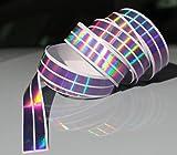 Finest Folia Chrom Hologramm Zierstreifen Folie Klebefolie Aufkleber Dekorstreifen (Lila Chrom, 4 Meter x 10 mm)