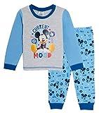 Disney Baby Boys Topolino Pigiama per Bambini a Tutta Lunghezza, Set di Biancheria da Notte Regalo L'umore Attuale 6-9 Mesi