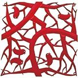 Koziol - Elemento ornamental para dividir la habitación, color rojo y transparente