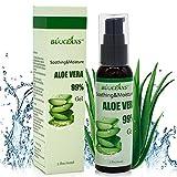 Aloe Vera GEL 60ml - 99% biologisch, KEIN XANTHAN, zieht schnell ein, keine Rückstände - Feuchtigkeitspflege für die Haut - After-Sun Bodylotion bei Sonnenbrand, Feuchtigkeitspflege für Gesicht, Haut und Haar