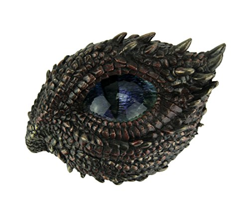 Veronese Design Resina scatole Decorative Finitura Bronzo Antico Thorny Dragon Eye Trinket/Stash Box 12,1 x 7,6 x 8,9 cm Bronzo