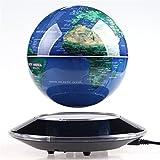 Tenlacum 6-Zoll-elektronische Magnetschwebebahn schweben Globus Weltkarte mit LED Lights Home