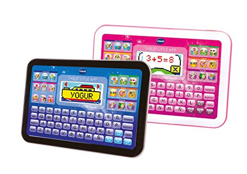 VTech - Tableta Little App para el aprendizaje, pantalla color, color rosa, versión española (3480-155257)