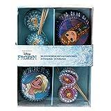 p:os 25686 Disney Frozen 24 Muffinförmchen mit 24 Fähnchen im Geschenkkarton