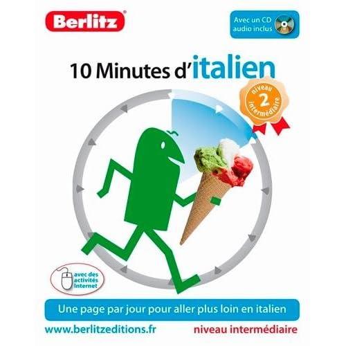 10 minutes d'italien - Niveau 2 intermédiaire (CD audio inclus )