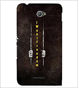PrintDhaba Quote D-5979 Back Case Cover for SONY XPERIA E4 (Multi-Coloured)
