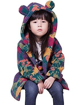 Ropa niña chaqueta niña abrigo, AIMEE7 Niño pequeño Niños Niñas Ropa de piel sintética Camuflaje Abrigo con capucha...