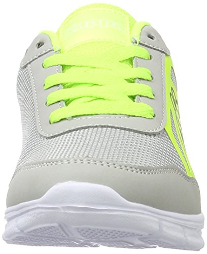 Kappa Square, Sneakers Basses Mixte Adulte Gris (Grey/yellow)