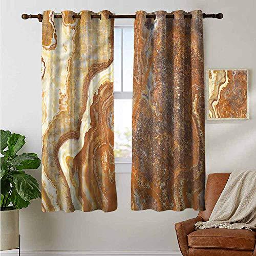 petpany Dekorative Vorhänge für Wohnzimmer Marmor, Japanisches Marmor, Kunst, Verdunkelungsvorhänge für Schlafzimmer, Polyester, Color11, 42'x72'(W106cmxL182cm)