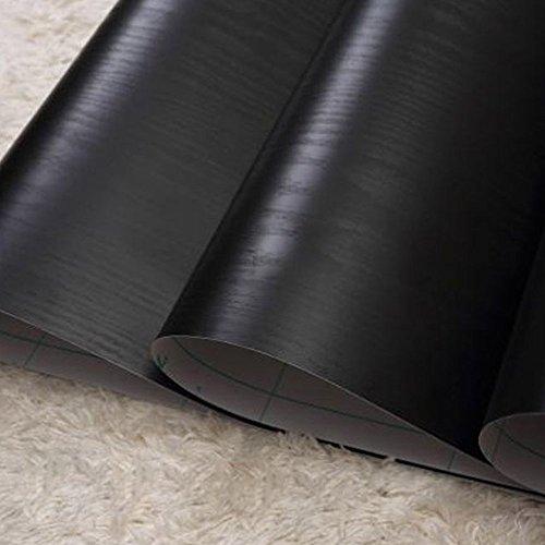 lovefaye massiv schwarz Holz Getreide Kontakt Papier selbstklebend Regalen Tür zinntheken Schrank Aufkleber 45cm von 9.8Füße -