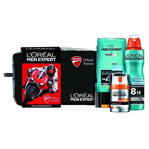 L'Oréal Paris Men Expert Power Cofanetto Regalo, Uomo, Collezione Ducati, Gel Doccia, Crema Viso e Deodorante