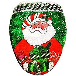 Newin Star Weihnachten Badezimmer Deko WC-Sitz Deckelbezug Weihnachtsmann Weihnachtsfest-Dekoration, Stil 1