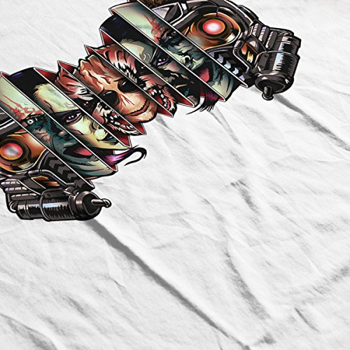 Guardians Of The Galaxy Russian Doll Faces Men's Baseball Long Sleeved T-Shirt White/Black