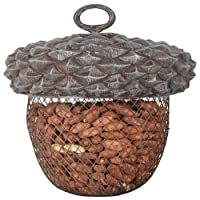 Fallen Fruits Ltd ACORN BIRD FEEDER Grey