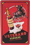 Blechschild Veterano Osborne Weinbrand 20 x 30 cm Reklame Retro Blech 401