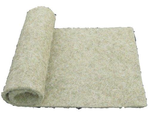 Tapis pour rongeurs en chanvre, 150 x 80 cm, épaisseur 5mm, lot de 2 (EUR 12,50/pièce). Tapis en tant que pour les lapins, cochons d'Inde, hamsters, dègues, rats et d'autres rongeurs.