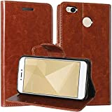 Mobielectro Vintage Flip Cover Leather Case : Inner TPU, Leather Wallet Stand for Xiaomi Redmi 3S Prime - Brown