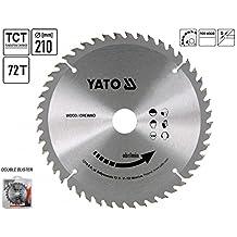 Yato YT-6093 - Sierra circular para aluminio 210 x 72 x 30 mm