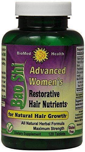 Biomed Health Advanced Womens Bao Shi Restorative Hair Nutrients - 120 Caplets -pack of 6 by BIOMED HEALTH INC