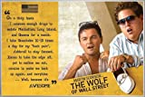 The Wolf of Wall Street Poster Awesome (62x93 cm) gerahmt in: Rahmen silber matt
