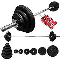 2568662929e BodyRip Cast Iron Weight Plate Barbell Set 15Kg + 1