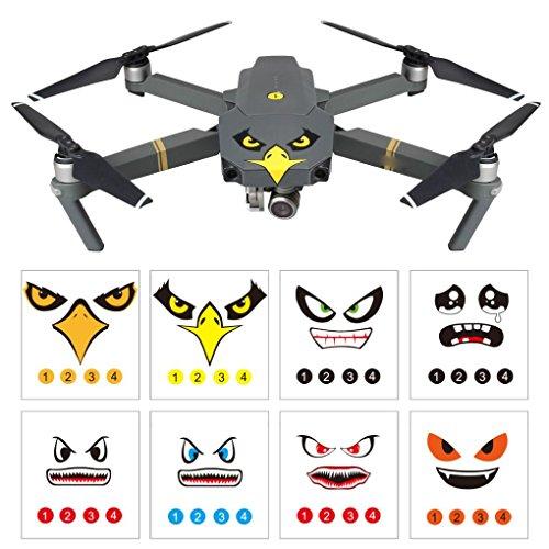 Preisvergleich Produktbild Lanspo 8pcs Kunst Eagle Lächeln Emoticon Hai Aufkleber Aufkleber Augen Haut für DJI Mavic Pro Spark