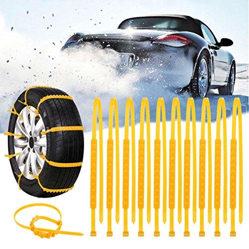 GOZAR-10Pcs-Camion-Auto-Inverno-Neve-Antiscivolo-Catene-Di-Pneumatici-In-Nylon-Cintura-Gialla