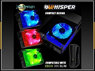 Xbox 360 S Slim 3 Colour Led Light Internal Cooling Whisper Fan by Talismoon