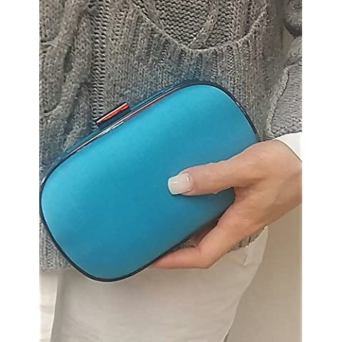 Da Wu Jia señoras bolso de lujo de alta calidad la moda femenina Marina Embragues Monedero Boda , azul