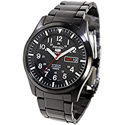 Seiko 5 Sports Auto Gents In Ion Gunmetal Black Stainless Steel SNZG17K1