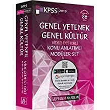 2019 KPSS Genel Yetenek Genel Kültür Video Destekli Konu Anlatımlı Modüler Set (6 Kitap)
