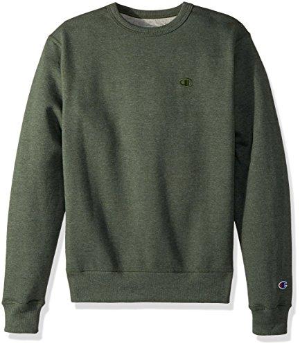 Champion Men's Powerblend Fleece Pullover Sweatshirt, Forest Grove Heather, Large Champion Fleece-sweatshirt